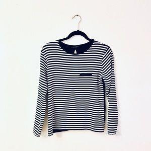 Zara W&B Striped Top